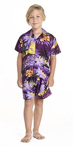 Hawaii Hangover Boy's Hawaiian Cabana Set Matching Sets
