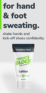 SweatBlock Clinical Strength Antiperspirant Lotion for Hand and Feet Hyperhidrosis 2 Pack deal
