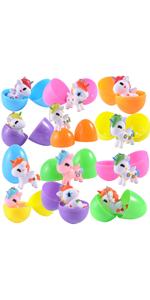 12 Pcs Jumbo Prefilled Unicorn Keychain Easter Eggs