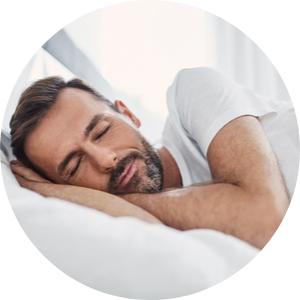 circle sleeping man