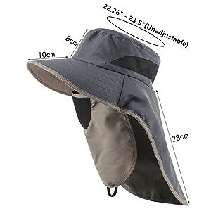 SUPER Wide Brim Sun Hat flap