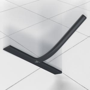 GÜTEWERK rasqueta limpiacristales para Ducha y mampara Profesional con Colgador Ventosa - Negro - 23 cm - sin taladrar ni Pegar - Silicona y Acero Inoxidable: Amazon.es: Hogar