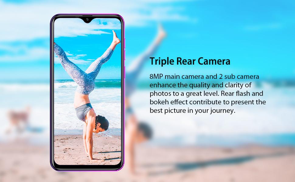 Triple Rear Camera Unlocked cell phone