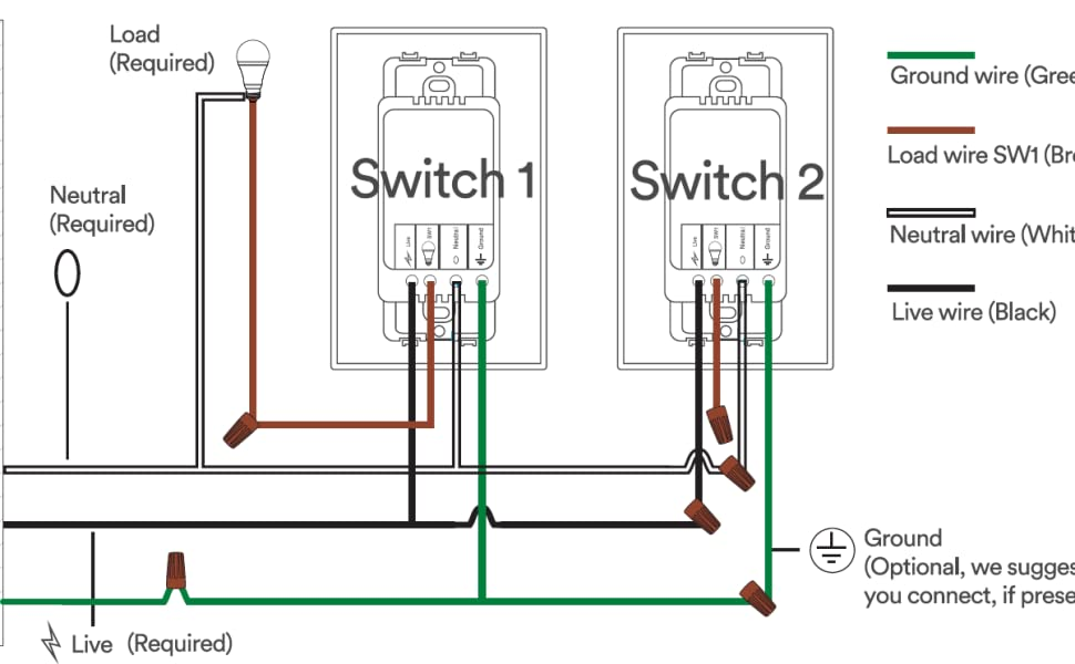 3 Way Switch Schematic Wiring