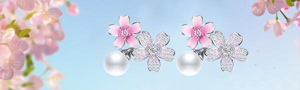 Cherry Blossom Flower Earrings
