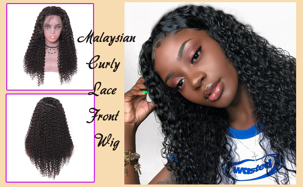 malaysian curly lace front wig