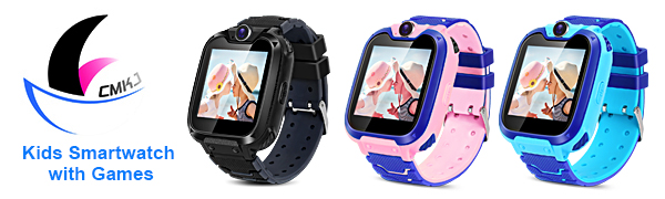 Kids Smartwatch with Two-Way Call SOS Games Camera Music