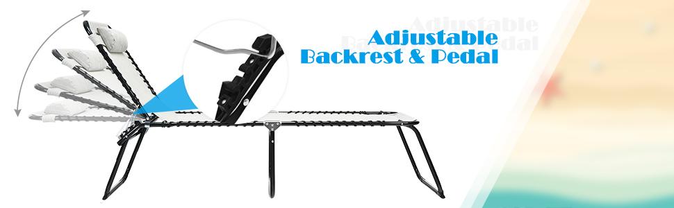 Adjustablr backrest and pedal