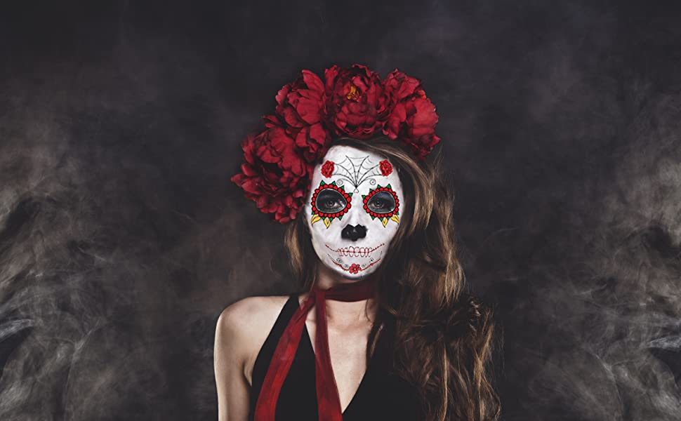 Day of the Dead Face Skeleton Tattoos
