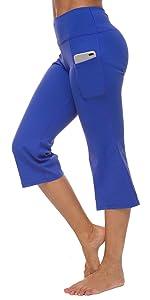 Women's Bootleg Crop Leggings Inner Pocket