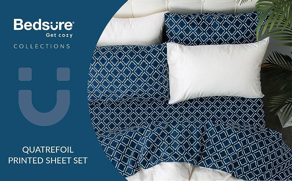Wrinkle Resistant Milano Trellis Pattern Luxury Softest 6-Piece Sheet