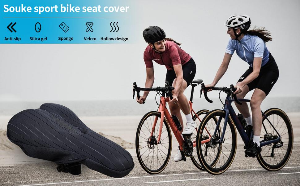 Funda de gel asiento de bicicleta Mantilla de bicicleta estable y transpirable con funda impermeable