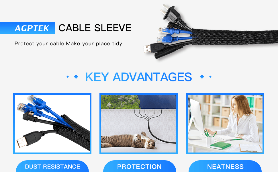 agptek cable sleeve