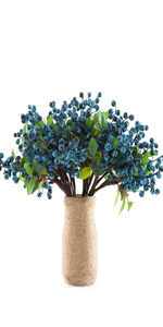Artificial Blue Berry Stems Pack of 20