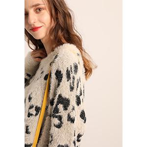 Super cute leopard sweater women