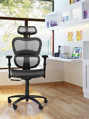 Ergousit ergonomic office chair 3D armrest adjustable headrest lumbar support