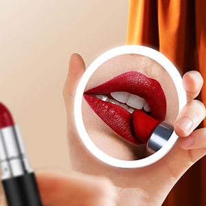 sensor lighted makeup mirror