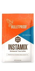 bulletproof MCT oil instamix brain octane grass-fed ghee instant coffee creamer supplement