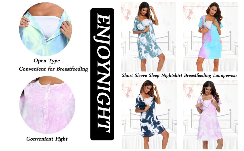 button nightgown for women