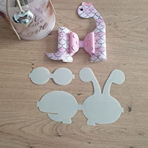 Plastic hair bow template size 4 inches make your own