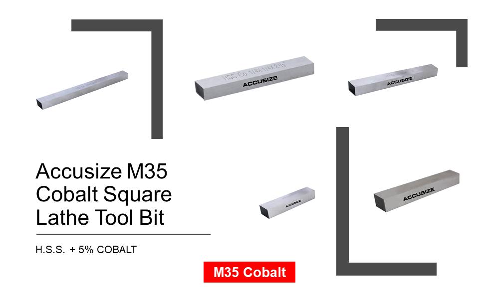 "Shars 10pcs 1//4/"" x 1//4/"" x 2-1//2/"" M2 HSS Square Tool Bits New"