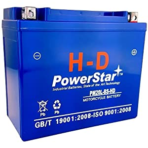PowerStar H-D FAYTX20L Replacement Battery for Harley Davidson 65989-97C