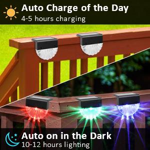solar deck lights outdoor waterproof