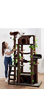 CozyCatFurniture Huge Cat Tree Tower Kitty Activity Center