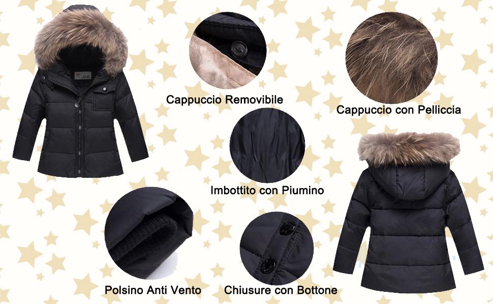 Odziezet Snowsuit da Unisex Bambini Tuta da Sci Piumino Trapuntato Salopette 2 Pezzi Tutone Inverno 4-13 Anni