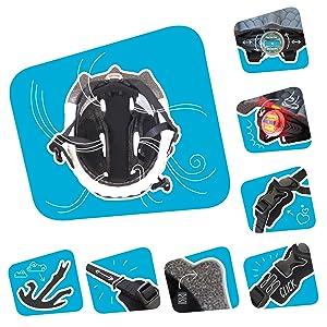 Crazy Safety Casco de Bici para niños | Casco de Bici para niños y niñas pequeños, niños y niñas patinetes eléctricos, triciclos, Skateboarding y bicis | Casco Ciclismo Animales niño: Amazon.es: Deportes