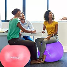 Gymnastikball Sitzball Pilates Anti-Burst 65cm//75cm,Dicker Explosionsgesch/ützter Pilates Ball mit Pumpe,300KG f/ür Yoga Fitness,Heim B/üro,Sitzball,Schwangere Frau Gymnastikball und Balance Stuhl