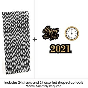 2021 New Years Eve Party Straws