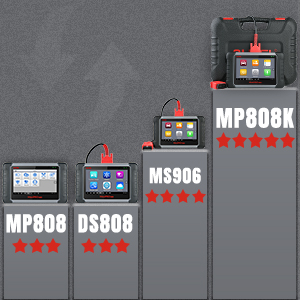 Auel MP808K Diagnostic Scan Tool OBD2 Scan Tool -Comparison