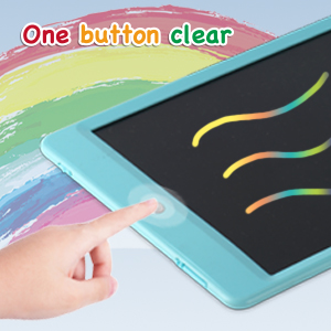 LCD Writing Tablet 10 Inch,Colorful Magnetic Doodle Board Drawing Board, Reusable Writing Pad