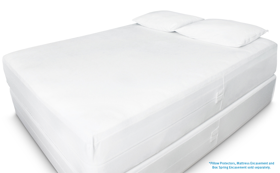 "Queen New! Mattress Safe KleenCover 9/"" Stretch Knit Box Spring Encasement"