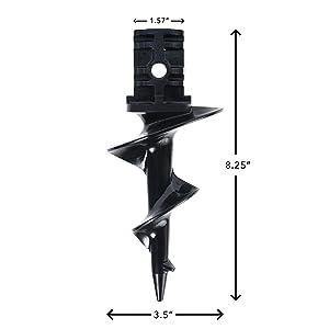 Sand Auger for Aluminum Dock Post X-FLOAT Dock Auger