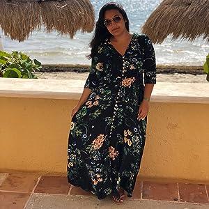 Vacation Dress Boho Casual A Line Flowy Flared