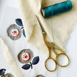 Cutting Crude hemp for sewing