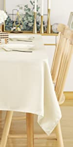 Square Tablecloth 54 x 54 Inch Striped Dark Grey Table Cover in Washable