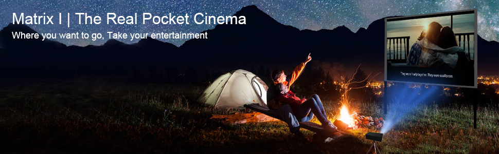 outdoor projector with wifi and bluetooth portable movie projector with speakers smart wireless