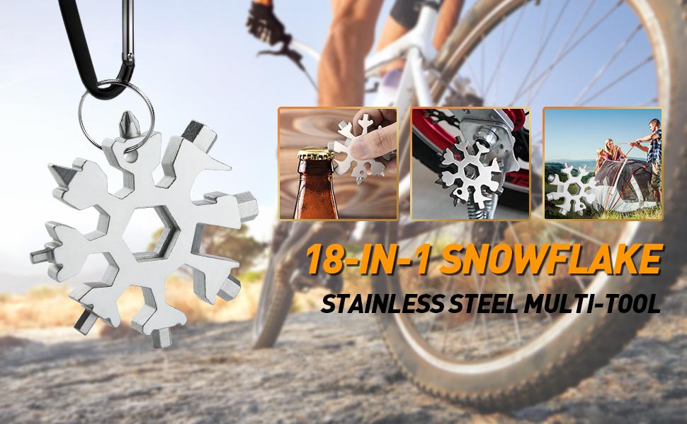 18-IN-1 SNOWFLAKE STAINLESS STEEL MULTI-TOOL