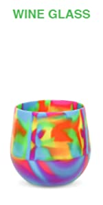Image of colorful, bright Silipint wine glass.