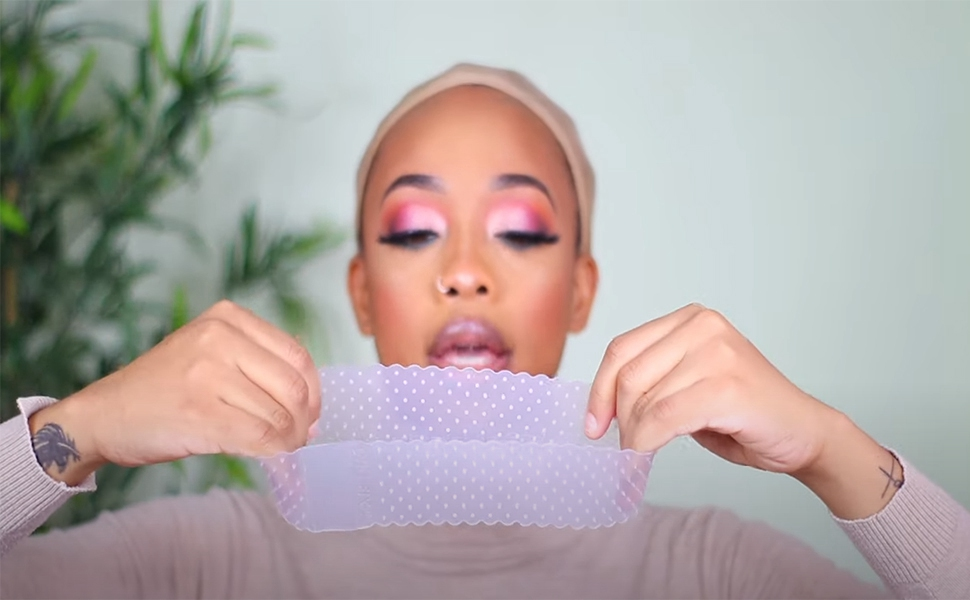 transparent lace wig  wig grip headband
