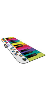 Kidzlane padded musical piano mat for kids 6 feet colorful keys included songs and song cards