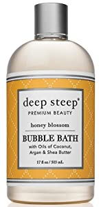 Honey blossom scent bubble bath relaxation deep steep