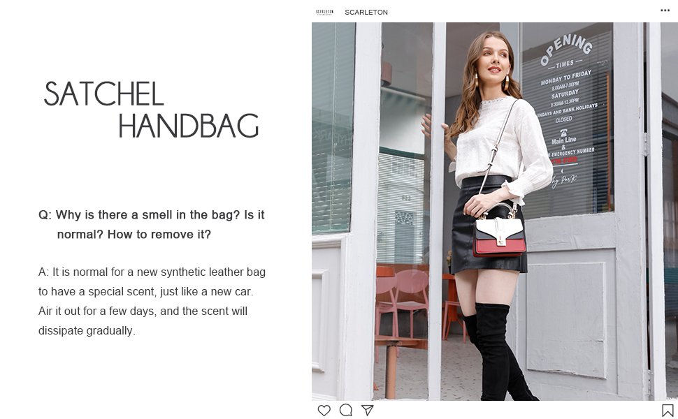 Photo with text Crossbody bag