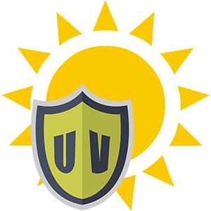 picto-gramm icon schutz-schild ultra-violette strahlung starke sonnenstrahlung sonne uv sicher hoch