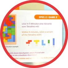 game ideas booklet included Tetris Russian blocks puzzle wooden wood children adults play family kid
