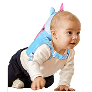 Babies Head Safety Pad Cushion Adjustable Backpack Suitable for 4-24 Months Toddler Baby Head Protection /& Baby Knee Pads for Crawling and Walking Angel /& Pink /& Blue