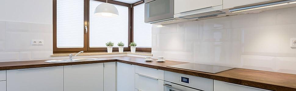 Bande lumineuse LED blanc chaud dimmable fonction tactile bande LED éclairage sous l'armoire 3er set